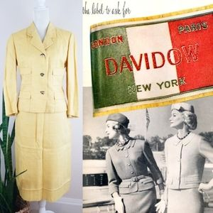 VTG 50s Davidow Tailored Skirt Suit Set